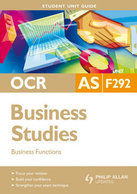 OCR AS Business Studies: Business Functions: Unit F292