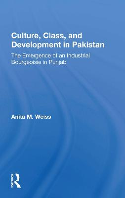 Culture, Class, And Development In Pakistan: The Emergence Of An Industrial Bourgeoisie In Punjab