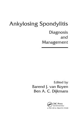Ankylosing Spondylitis: Diagnosis and Management