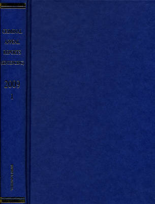 Criminal Appeal Reports (Sentencing): 2009 Bound Volume V1