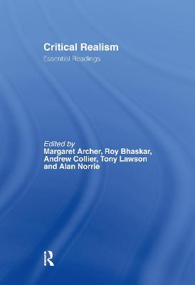Critical Realism: Essential Readings
