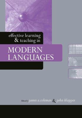 Effective Learning and Teaching in Modern Languages