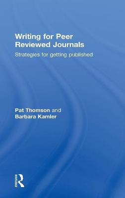 Writing for Peer Reviewed Journals: Strategies for getting published