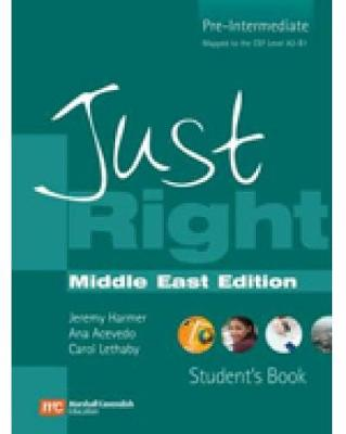 JUST RIGHT BRE ME PRE-INT SB +GRAMMAR/AUDIO CD INSERT