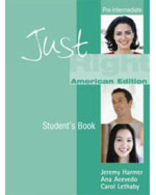 Just Right Pre-Intermediate - Workbook without Answer Key + Audio CD