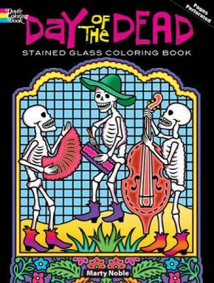 Day of the Dead Stained Glass Coloring Book