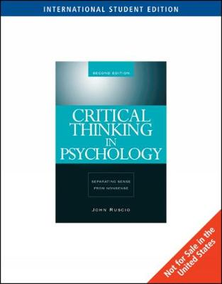Critical Thinking in Psychology: Separating Sense from Nonsense, International Edition