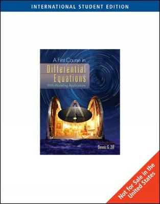 A First Course in Differential Equations, International Edition