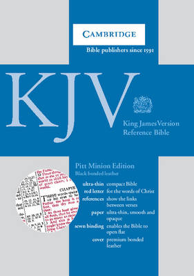 KJV Pitt Minion Reference Edition, R182 Black Bonded Leather