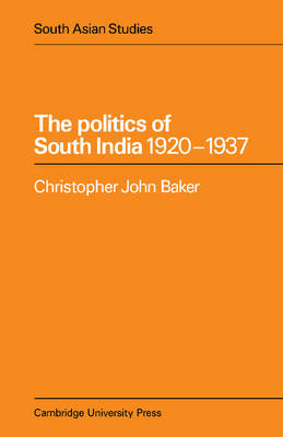 The Politics of South India 1920-1937