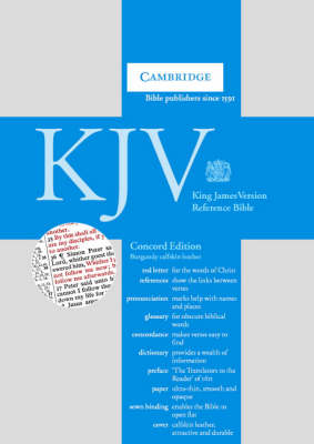 KJV Concord Reference Edition Red Letter with Concordance and Dictionary Dark Burgundy calfskin RCD267