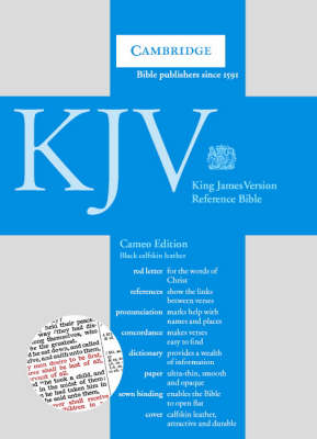 KJV Cameo Reference Edition Red Letter with Concordance and Dictionary, Black Calfskin