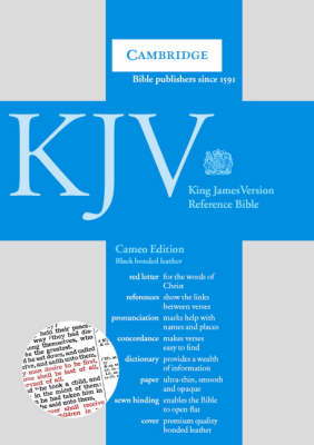 KJV Cameo Reference Edition Black bonded leather RCD252