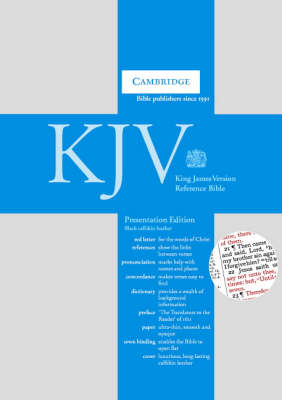 KJV Presentation Reference Edition Red Letter with Concordance and Dictionary Black calfskin leather RCD287