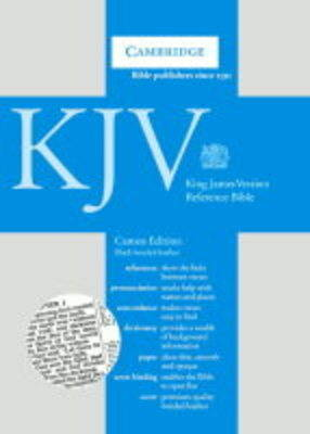 KJV Cameo Reference Edition with Concordance and Dictionary Black bonded leather CD252