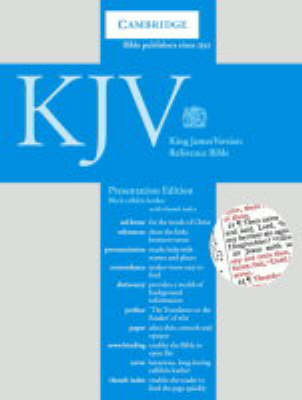 KJV Presentation Reference Edition Red Letter with Concordance and Dictionary Black calfskin leather, thumb index RCD287:IX