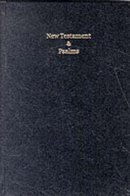 KJV New Testament and Psalms Black Letter (Brevier) Black hardback imitation leather NTP20