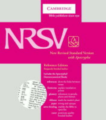 NRSV Reference Edition with Apocrypha Burgundy bonded leather NRA22