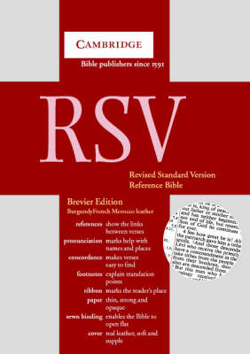 Bible RSV353 Brevier Reference Edition with Concordance Burgundy French Morocco leather RSV353