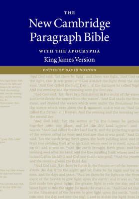 The New Cambridge Paragraph Bible, with the Apocrypha Black French Morocco Leather: Holy Bible, King James Version