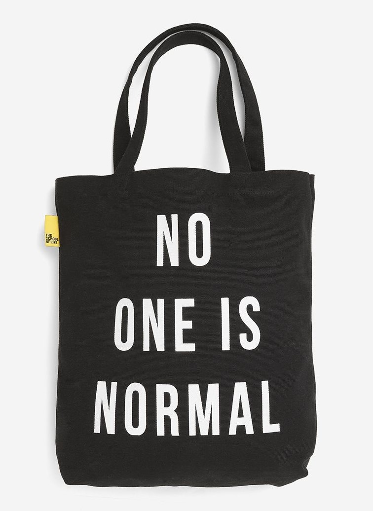 No One Is Normal Black Tote Bag