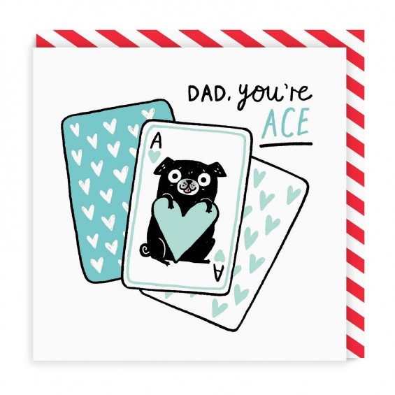 Dad you are ace Greeting Card (Gemma Correl)