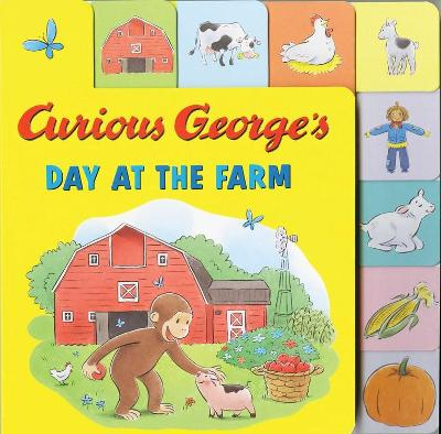 Curious George's Day at the Farm (Tabbed Lift-the-Flap)