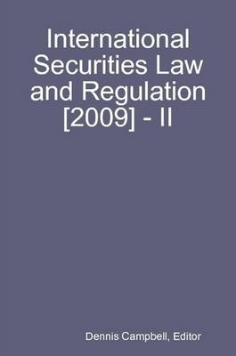 International Securities Law and Regulation [2009] - II