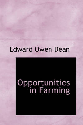 Opportunities in Farming