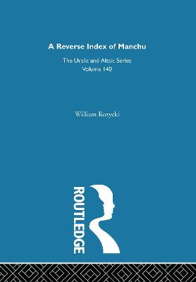 A Reverse Index of Manchu