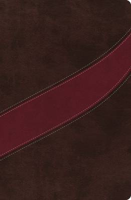 NASB, The MacArthur Study Bible, Leathersoft, Brown/Red, Indexed