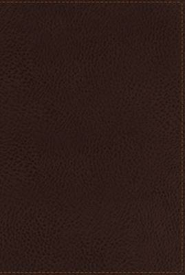 NKJV, Reference Bible, Compact, Large Print, Leathersoft, Brown, Red Letter Edition