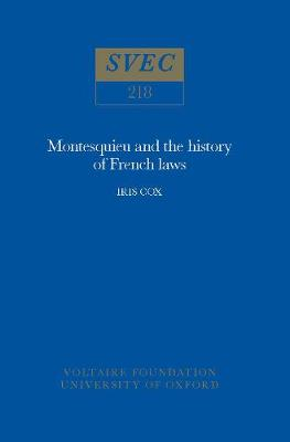 Montesquieu and the History of French Laws: 1983