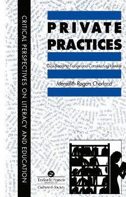 Private Practices: Girls Reading Fiction And Constructing Identity
