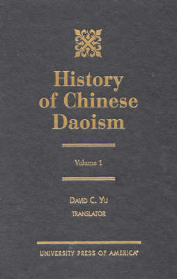 History of Chinese Daoism: v. 1