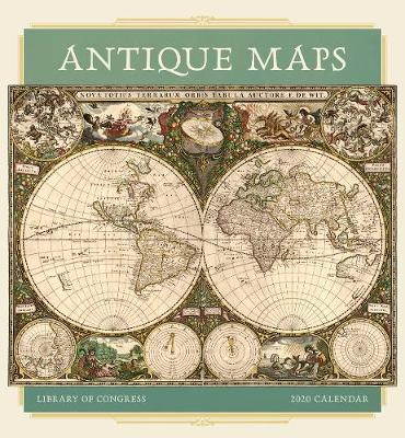 Antique Maps 12 Month Wall Calendar 2020