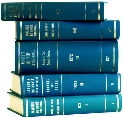 Recueil des cours, Collected Courses, Tome/Volume 209 (1988)