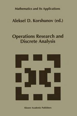 Operations Research and Discrete Analysis