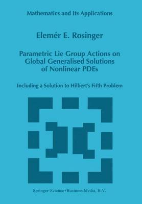 Parametric Lie Group Actions on Global Generalised Solutions of Nonlinear PDEs: Including a Solution to Hilbert's Fifth Problem