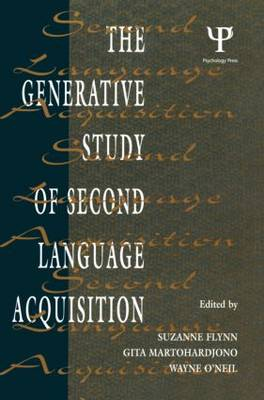 The Generative Study of Second Language Acquisition
