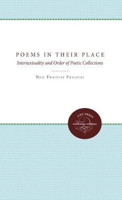 Poems in Their Place: Intertextuality and Order of Poetic Collections