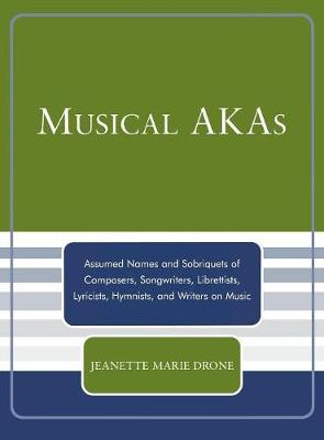 Musical AKAs: Assumed Names and Sobriquets of Composers, Songwriters, Librettists, Lyricists, Hymnists and Writers on Music