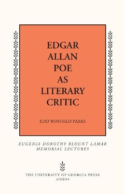 Edgar Allan Poe as Literary Critic