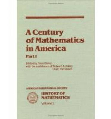 A Century of Mathematics in America, Part 1