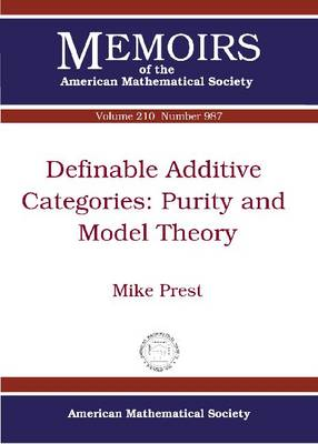 Definable Additive Catagories: Purity and Model Theory