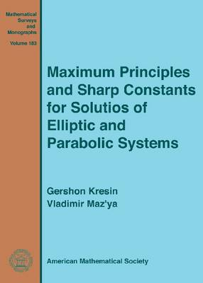 Maximum Principles and Sharp Constants for Solutions of Elliptic and Parabolic Systems