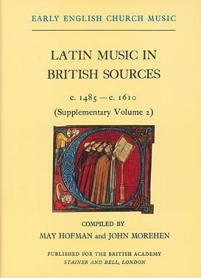 Early English Church Music: v. 2S: Latin Music in British Sources, c.1485-1610