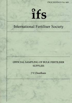 Official Sampling of Bulk Fertiliser Supplies