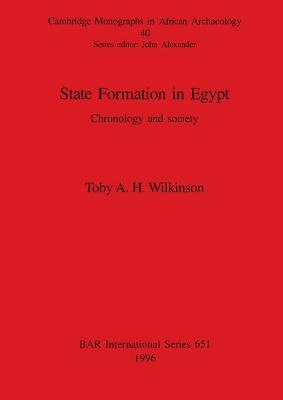 State Formation in Egypt: Chronology and society