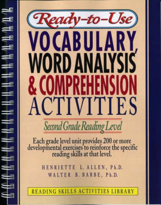 Ready-to Use Vocabulary Word Analysis & Comprehension Activities: Second Grade Reading Level
